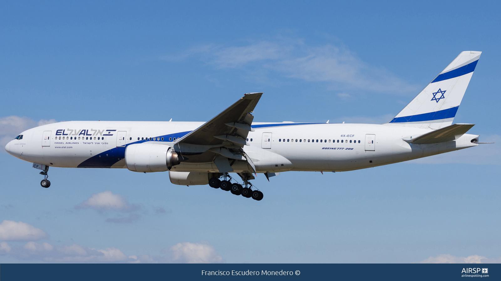 El Al Israel Airlines  Boeing 777-200  4X-ECF