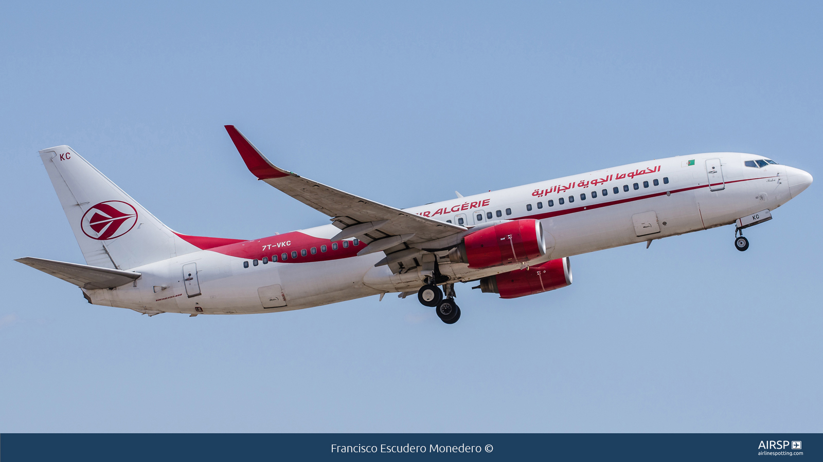 Air Algerie  Boeing 737-800  7T-VKC