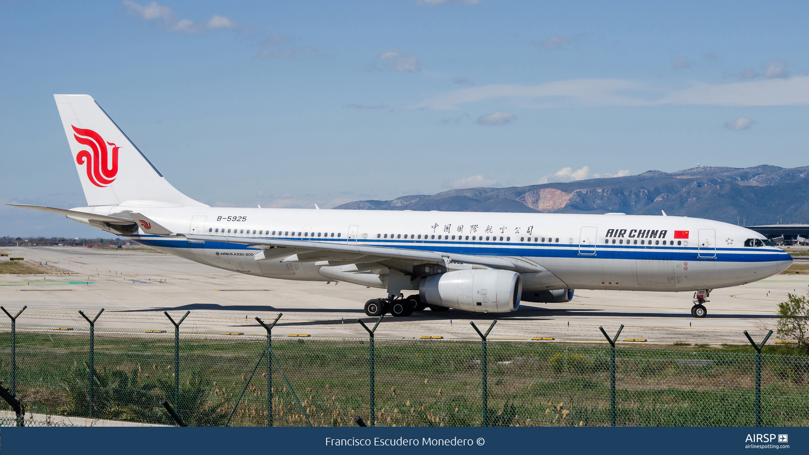 Air China  Airbus A330-200  B-5925