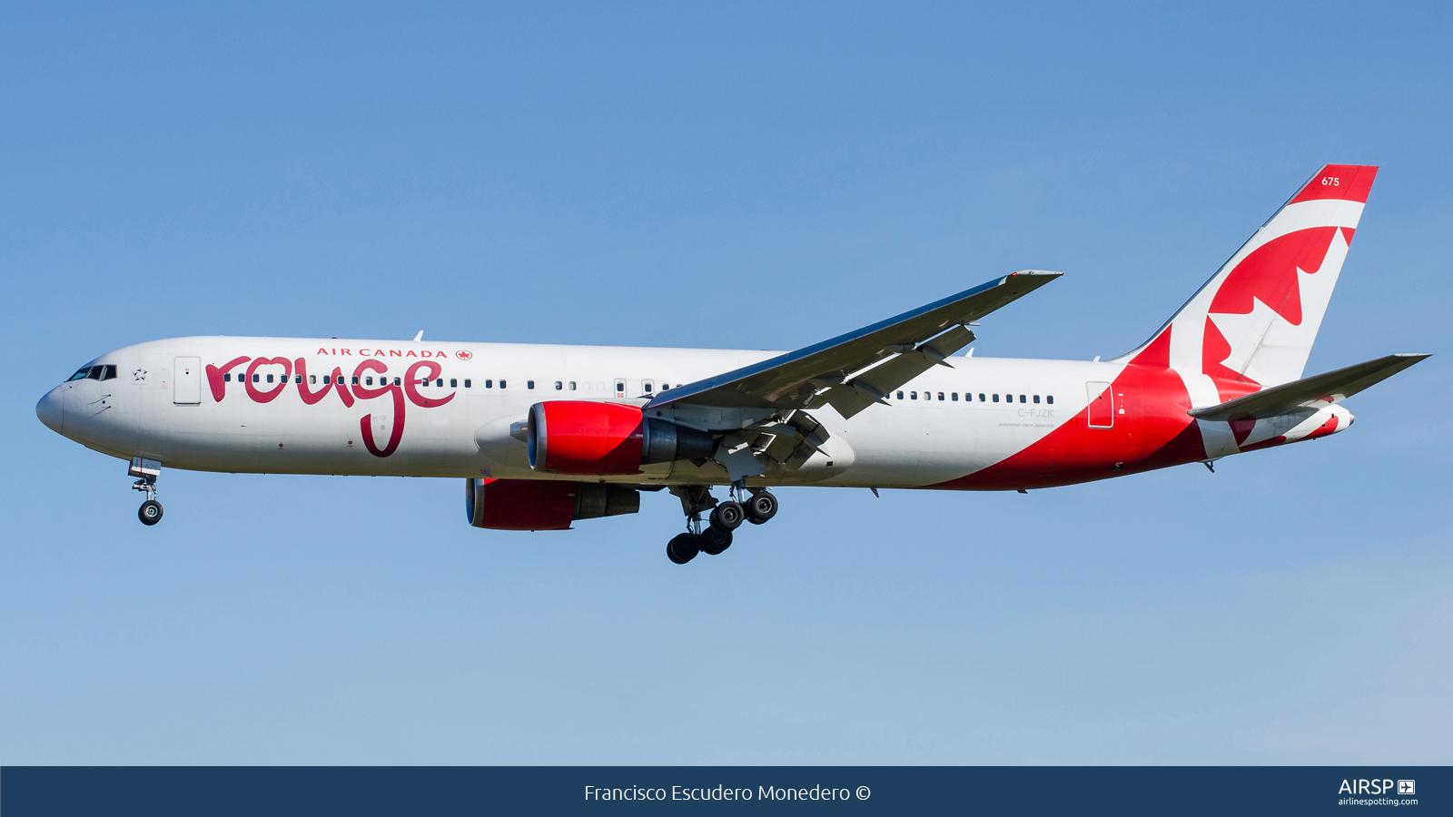 Air Canada Rouge  Boeing 767-300  C-FJZK