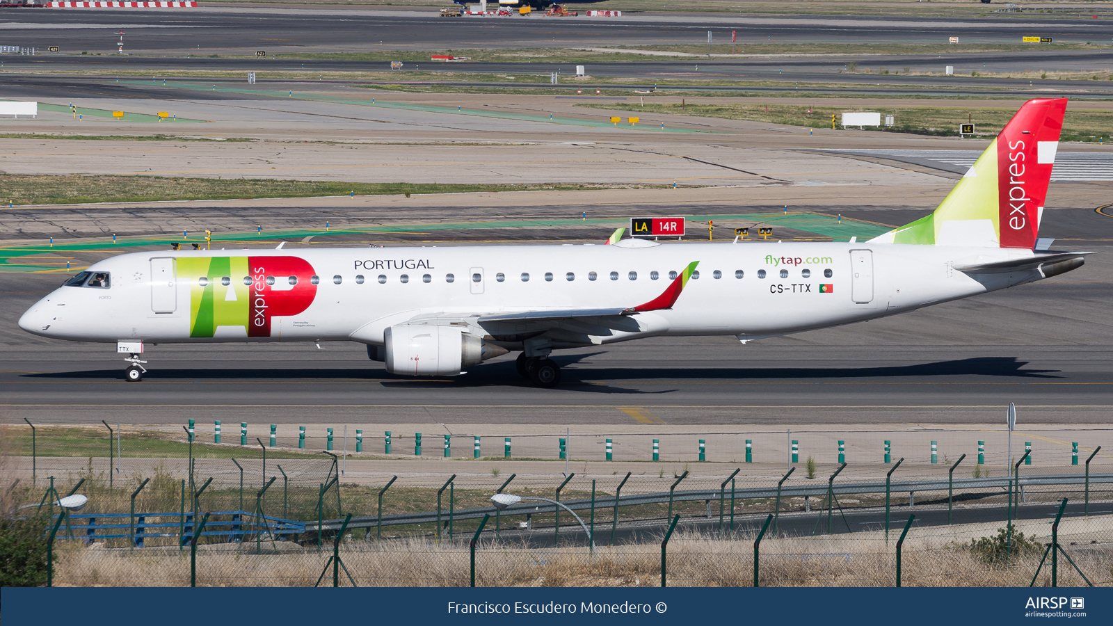 TAP Express  Embraer ERJ-195  CS-TTX