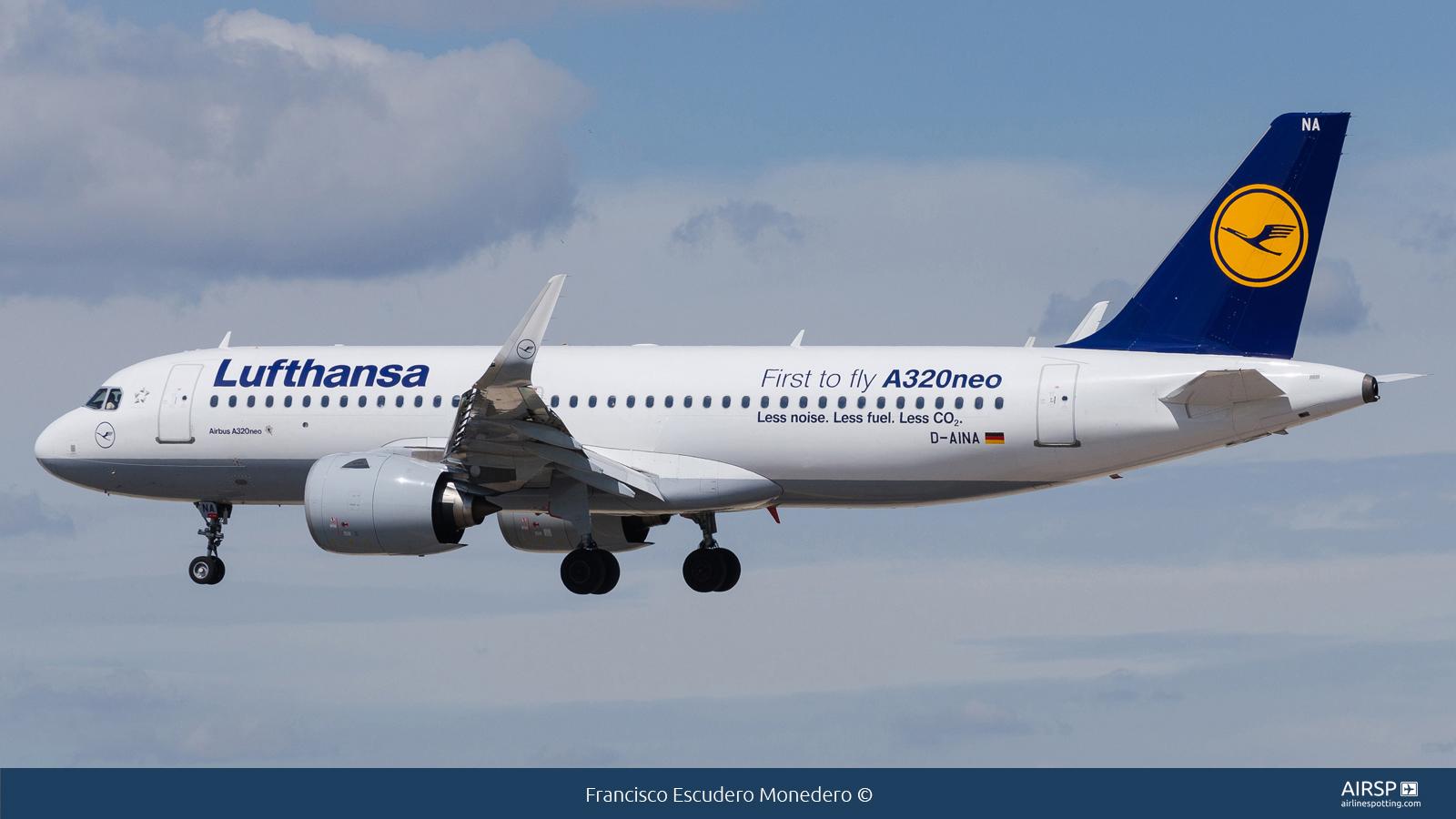 Lufthansa  Airbus A320neo  D-AINA