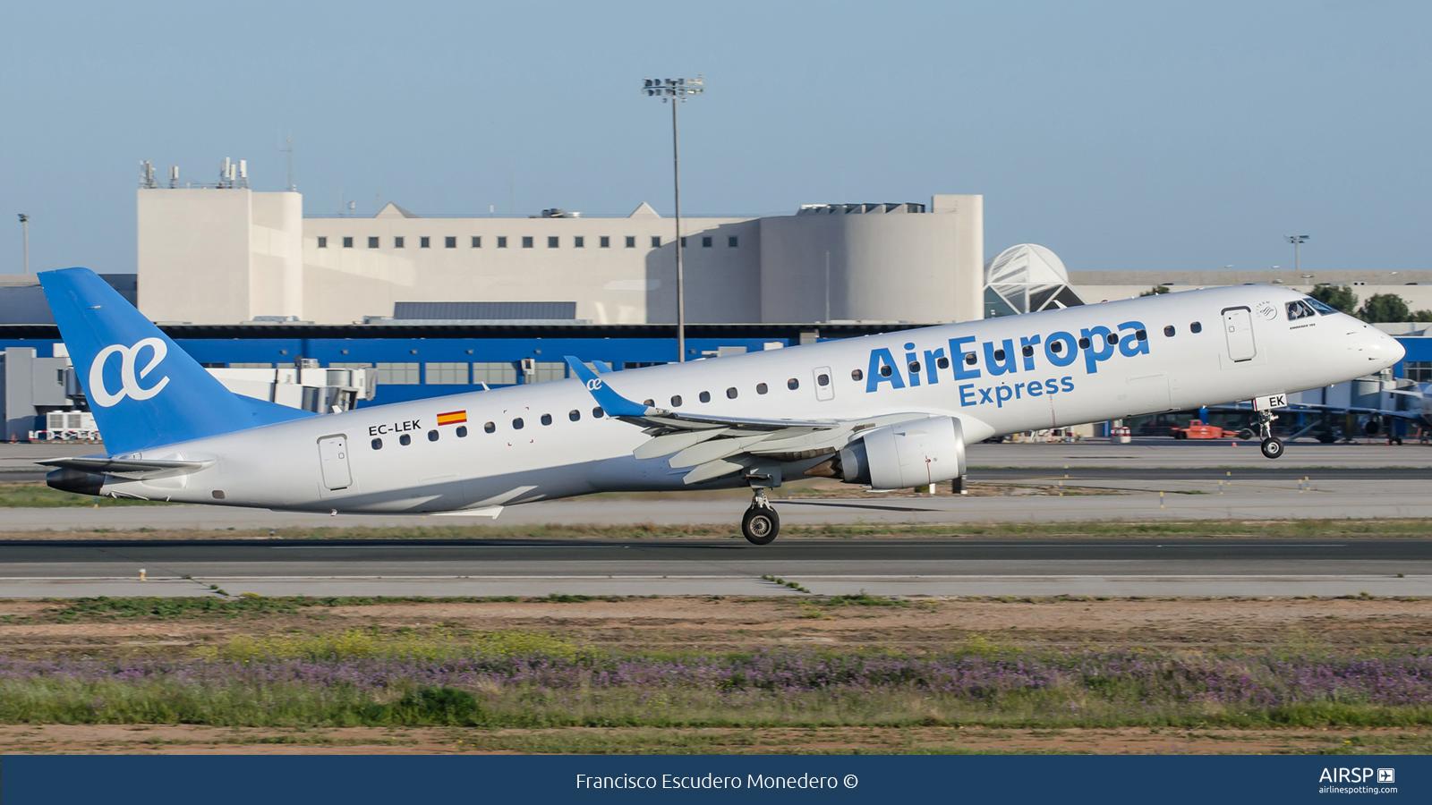 Air Europa Express  Embraer ERJ-195  EC-LEK
