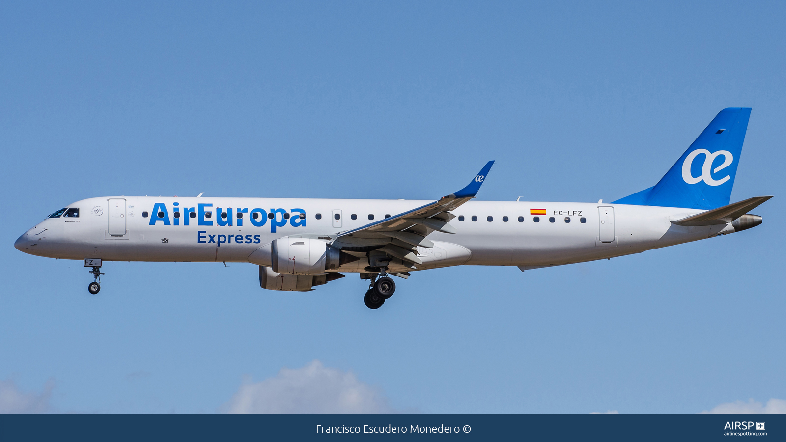 Air Europa Express  Embraer E195  EC-LFZ