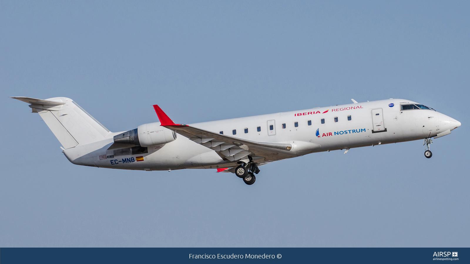 Air Nostrum Iberia Regional  Mitsubishi CRJ-200  EC-MNB