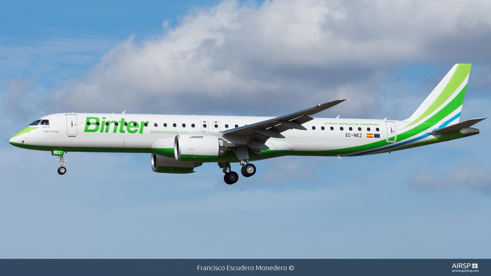 Binter Canarias  Embraer E195-E2  EC-NEZ
