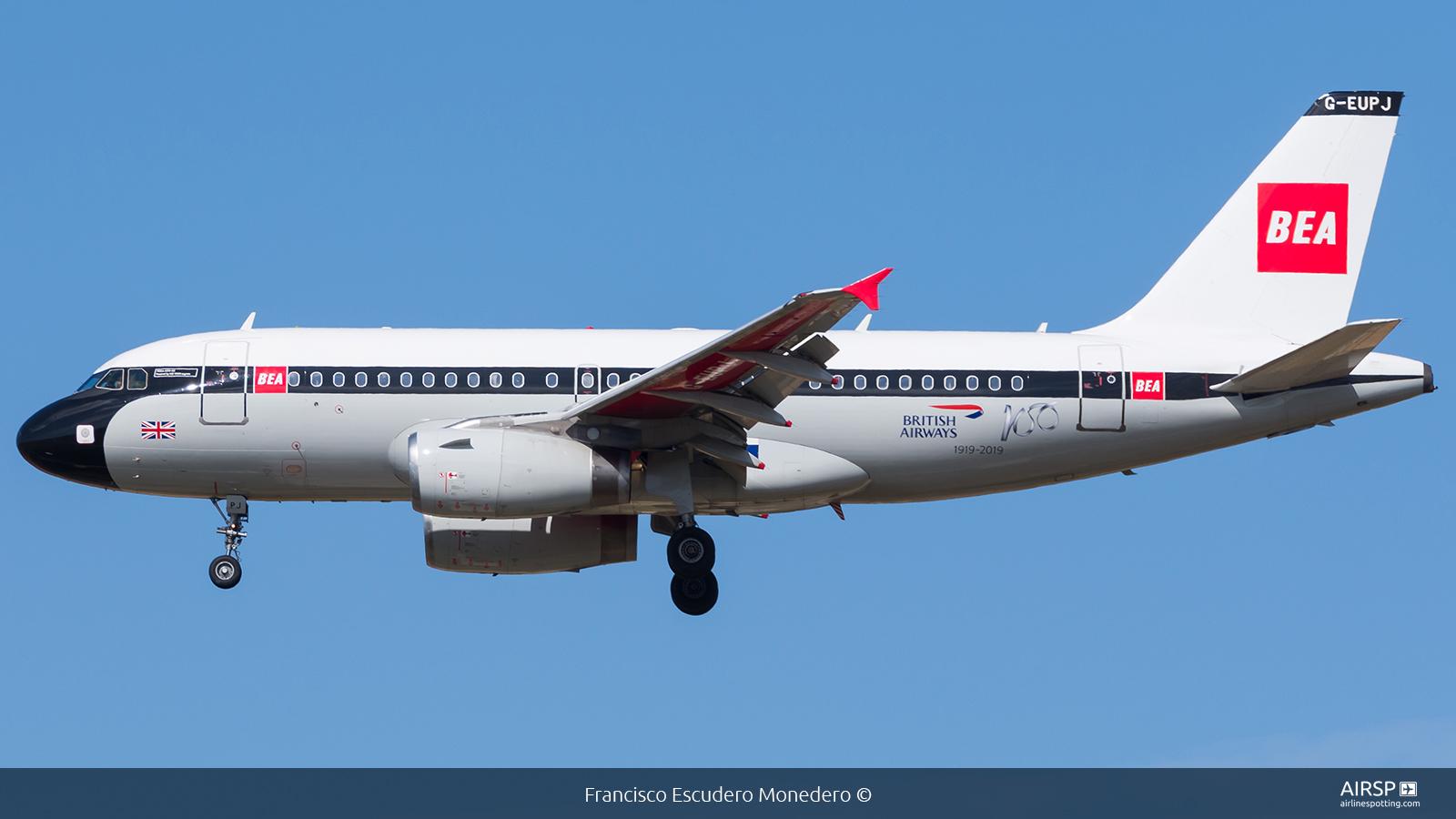 British Airways  Airbus A319  G-EUPJ