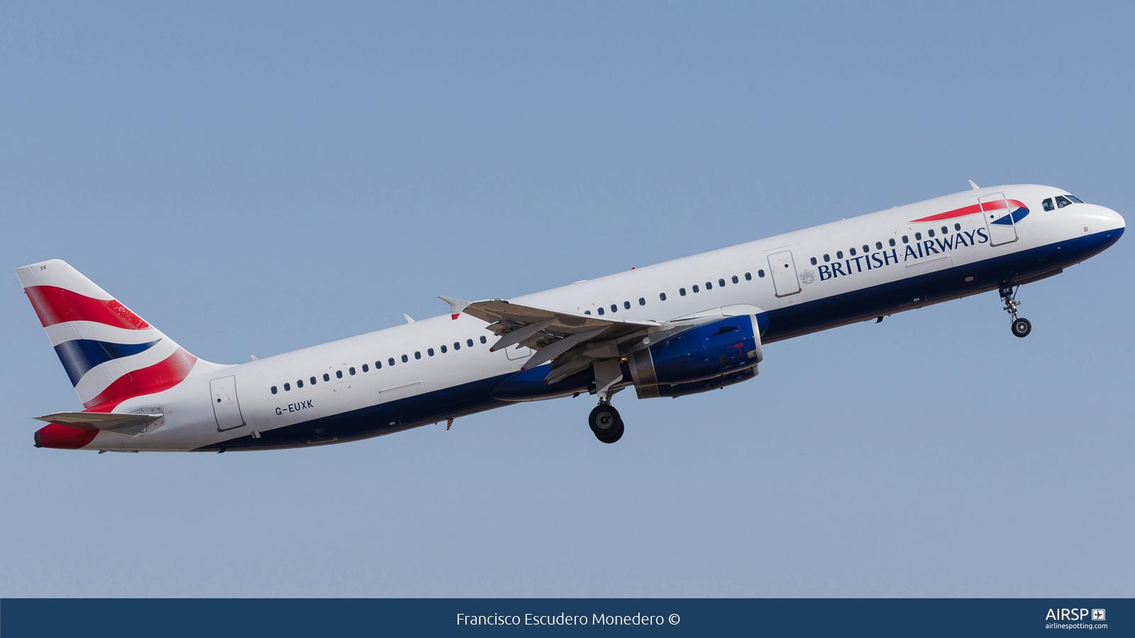 British Airways  Airbus A321  G-EUXK