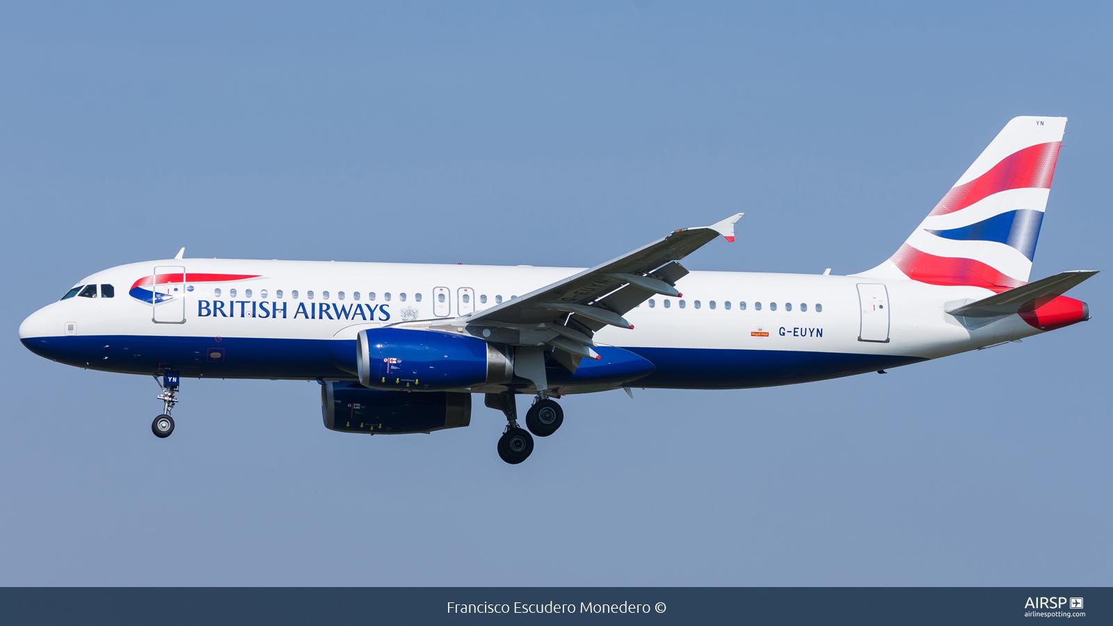 British Airways  Airbus A320  G-EUYN