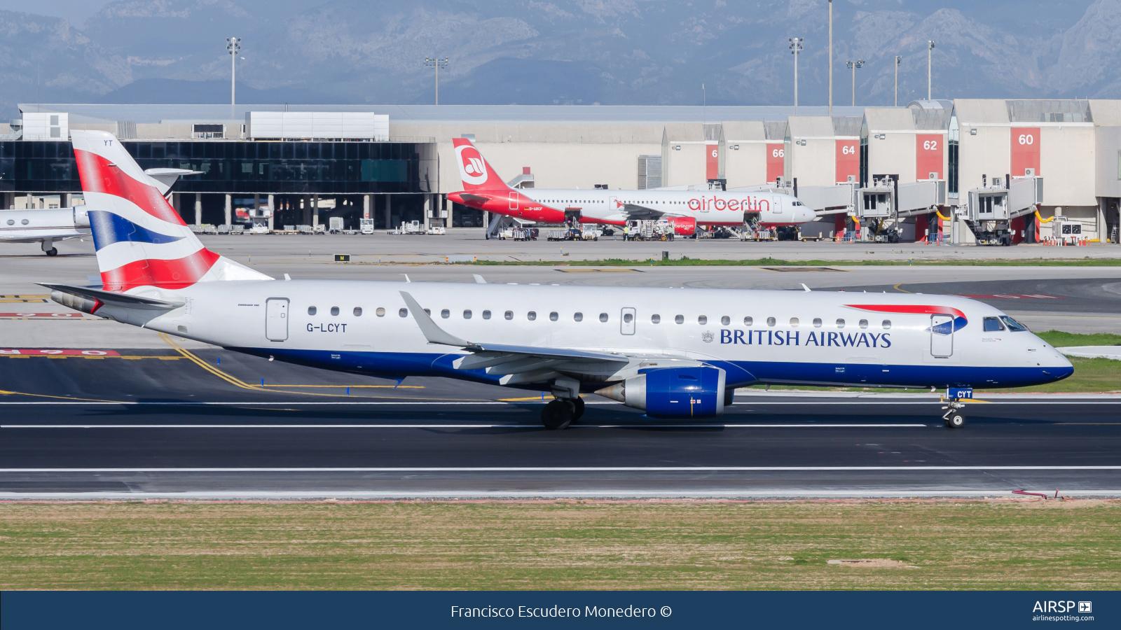 British Airways CityflyerEmbraer ERJ-190G-LCYT