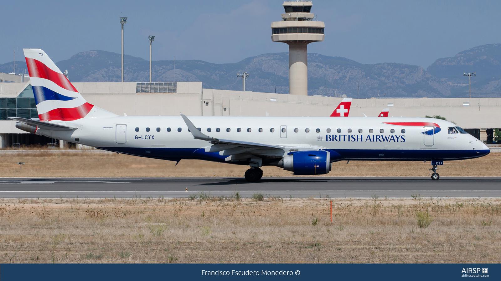 British Airways Cityflyer  Embraer ERJ-190  G-LCYX