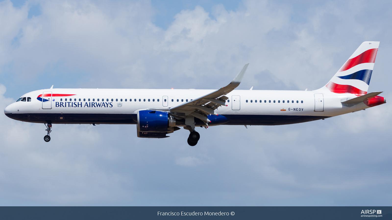British Airways  Airbus A321neo  G-NEOV