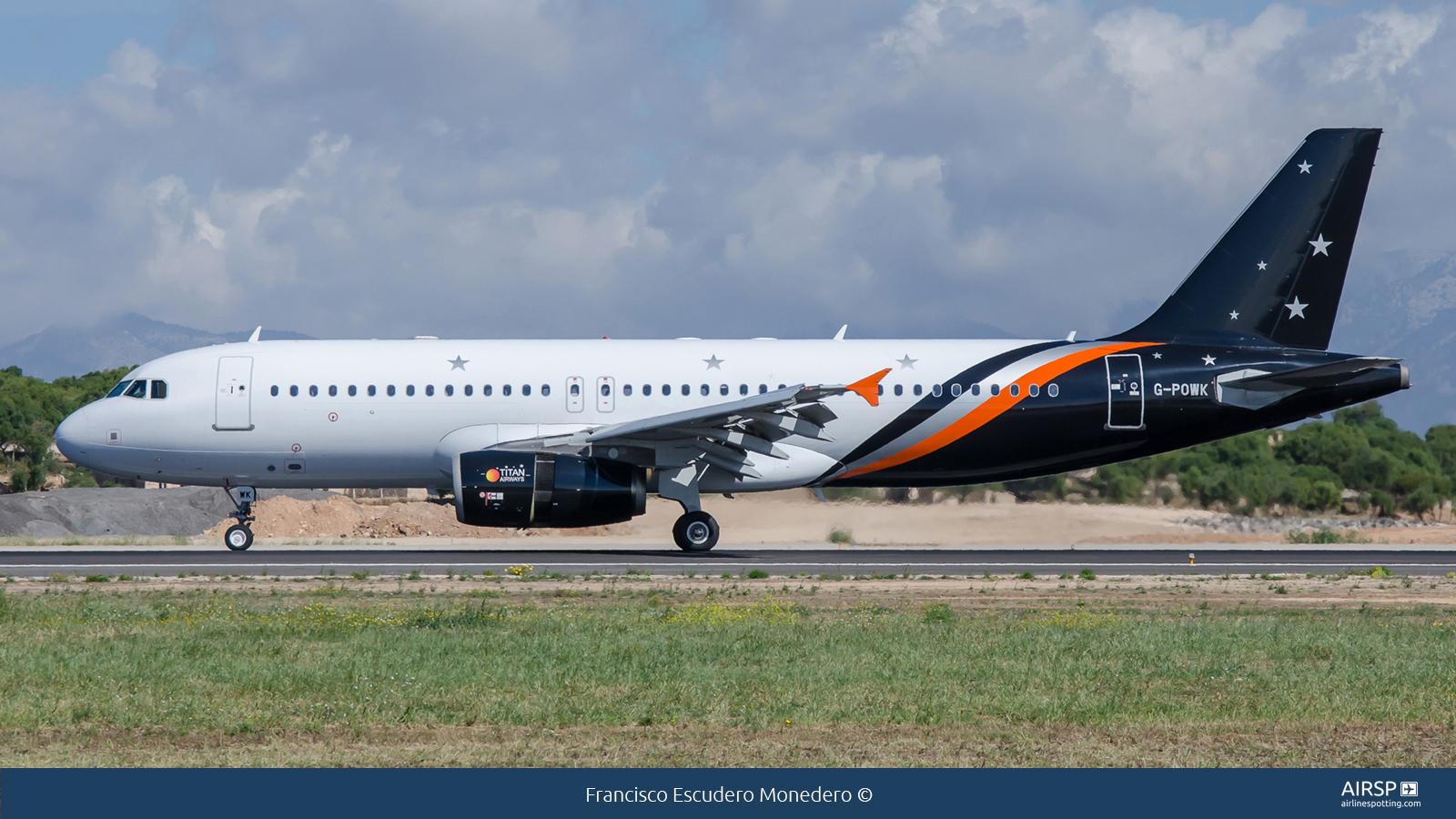 Titan Airways  Airbus A320  G-POWK