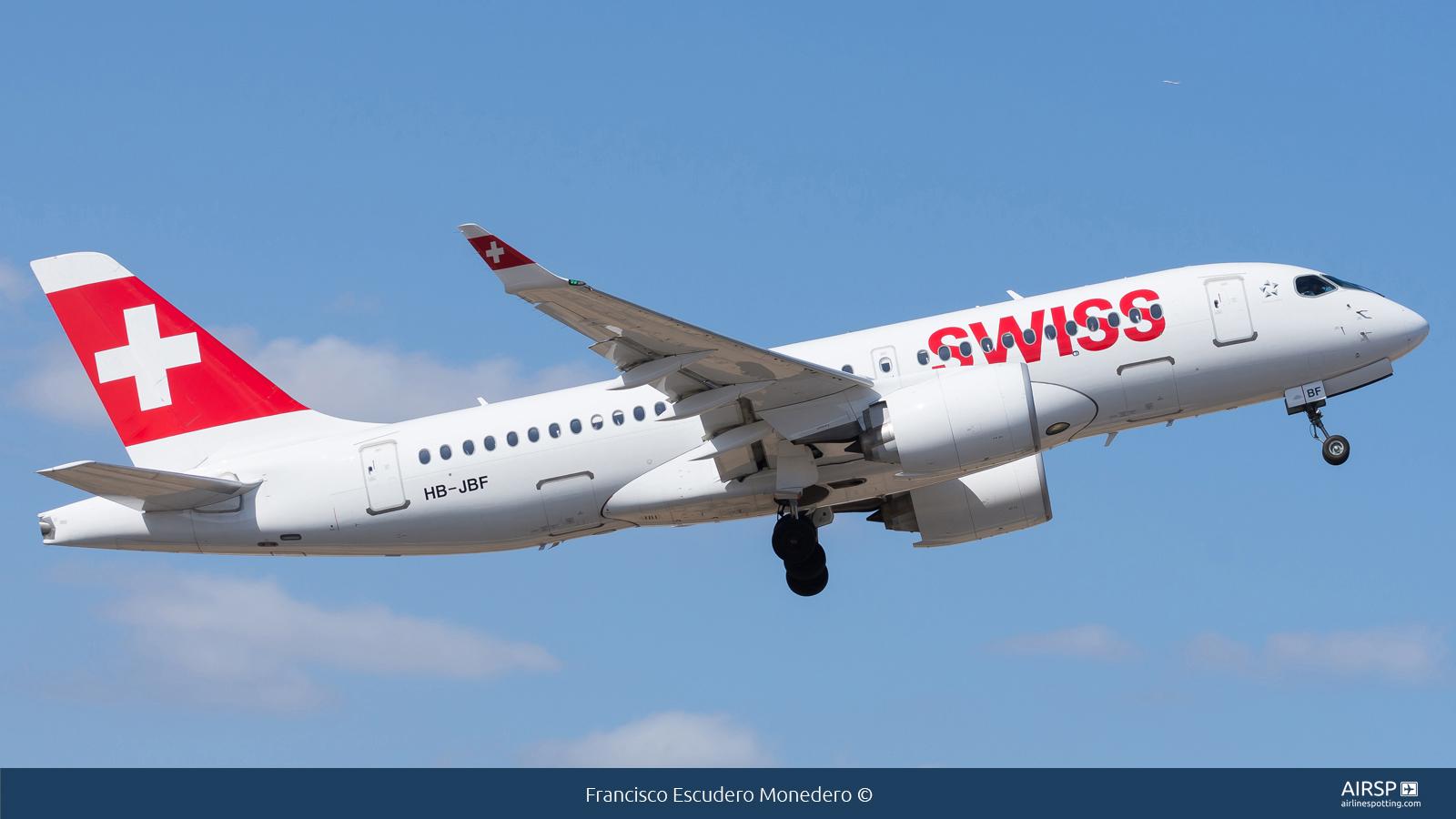 Swiss  Airbus A220-100  HB-JBF