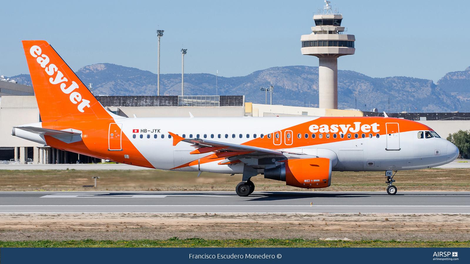 Easyjet  Airbus A319  HB-JYK