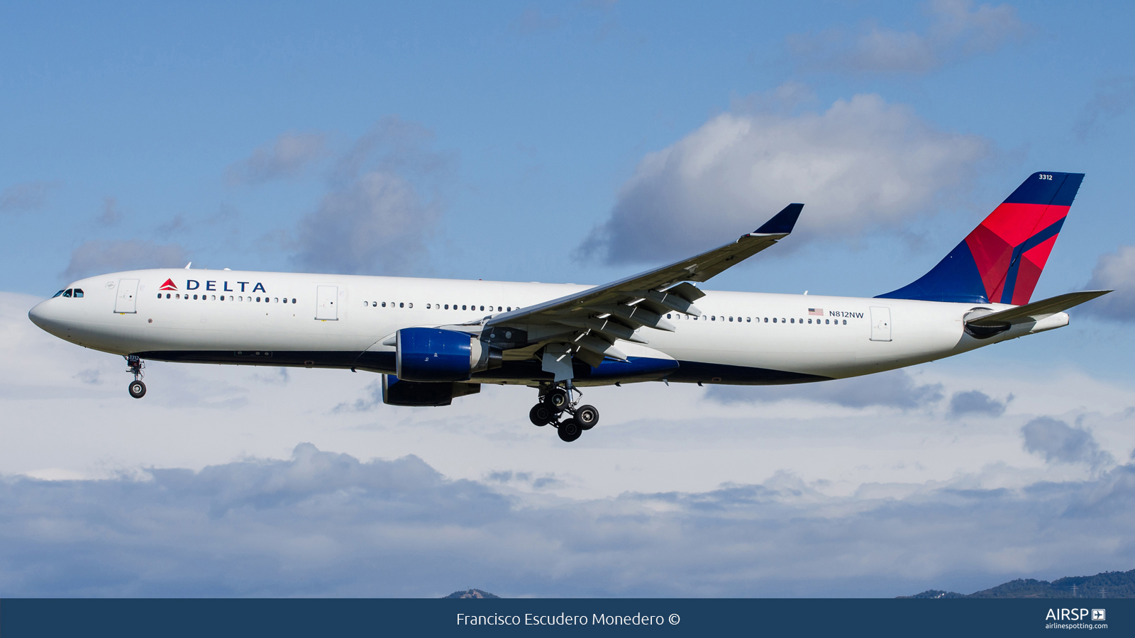 Delta Airlines  Airbus A330-300  N812NW
