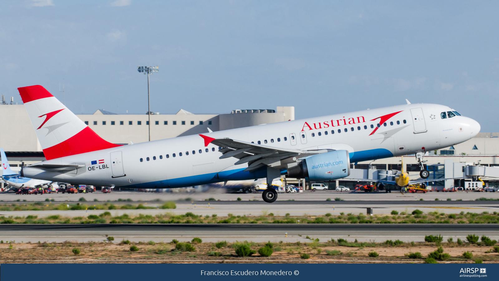 Austrian Airlines  Airbus A320  OE-LBL