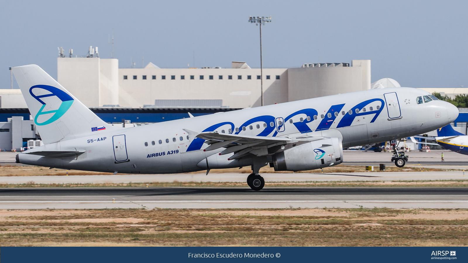 Adria Airways  Airbus A319  S5-AAP