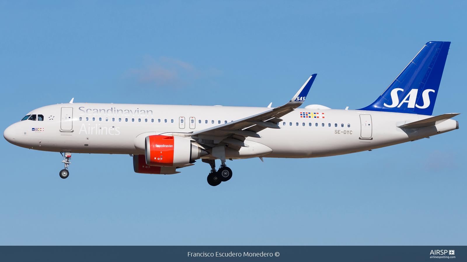 SAS Scandinavian Airlines  Airbus A320neo  SE-DYC