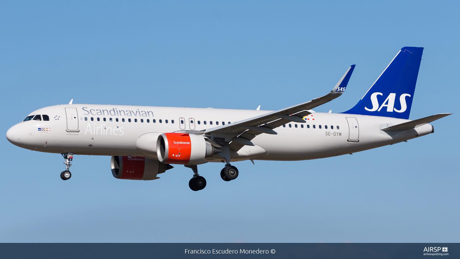 SAS Scandinavian Airlines  Airbus A320neo  SE-DYM