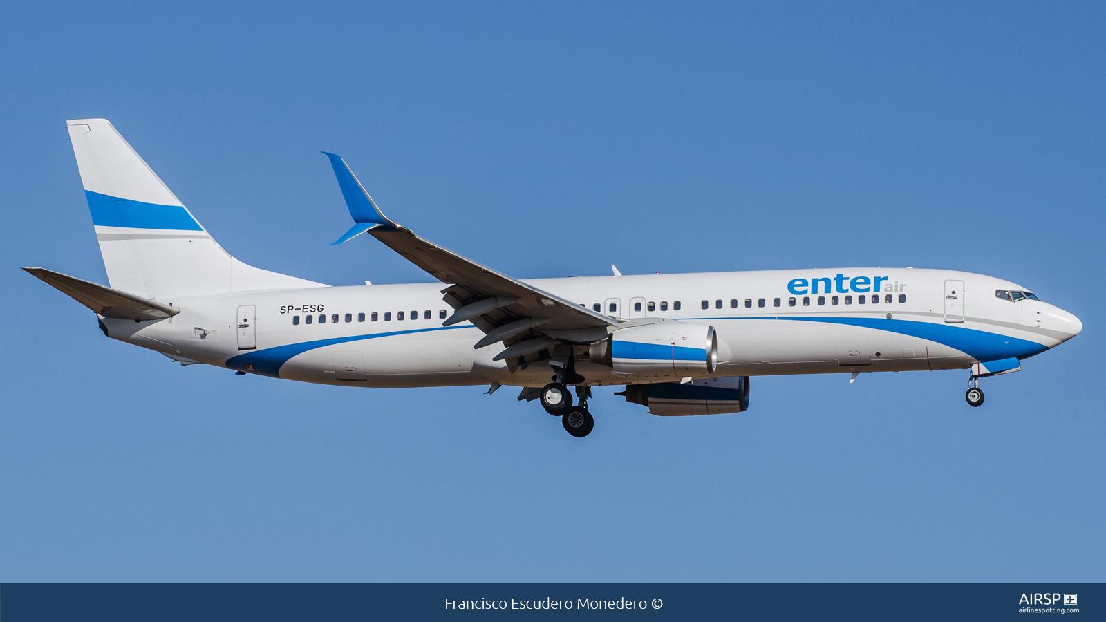Enter Air  Boeing 737-800  SP-ESG