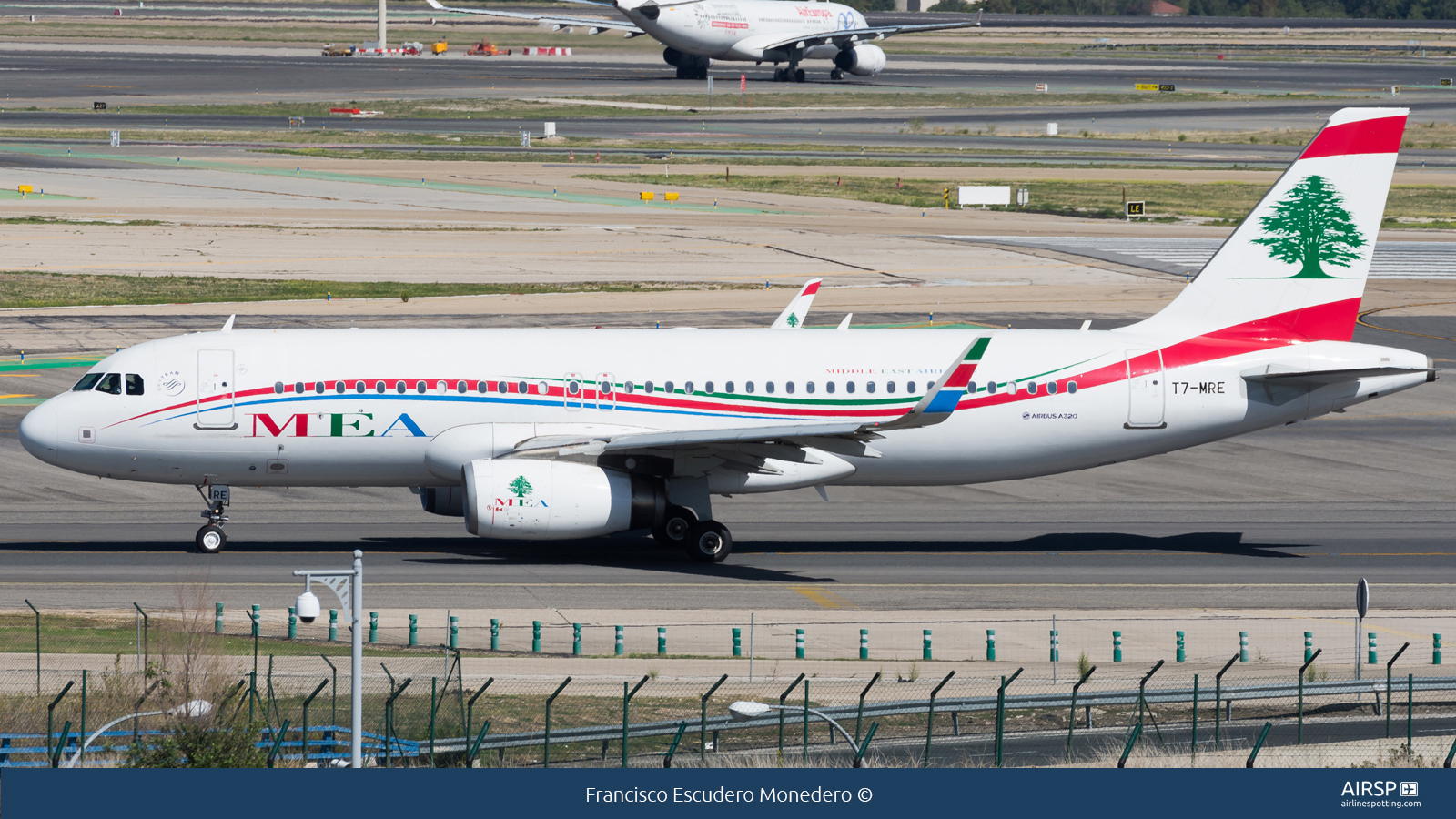 MEA Middle East Airlines  Airbus A320  T7-MRE