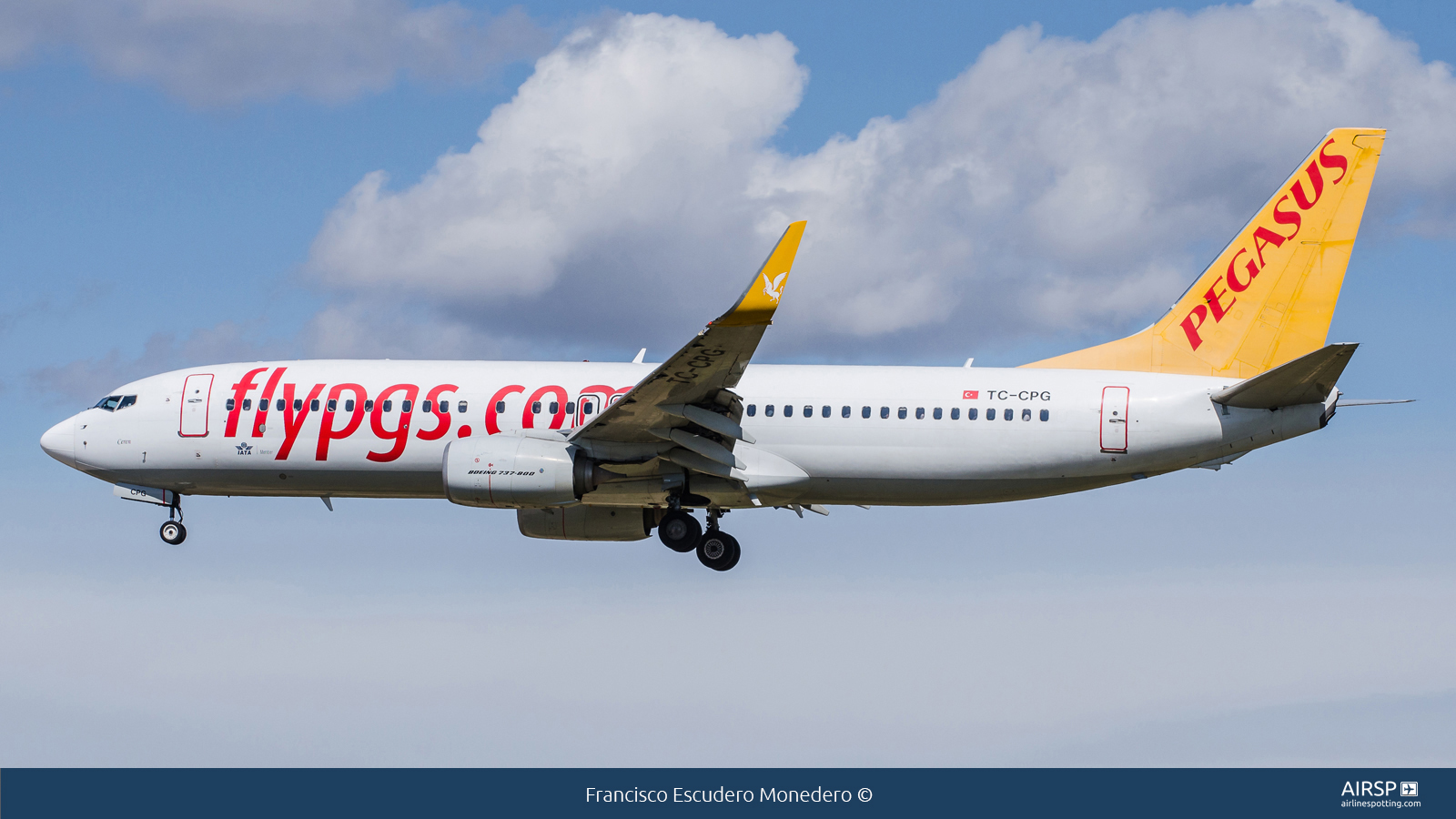 Pegasus Airlines  Boeing 737-800  TC-CPG