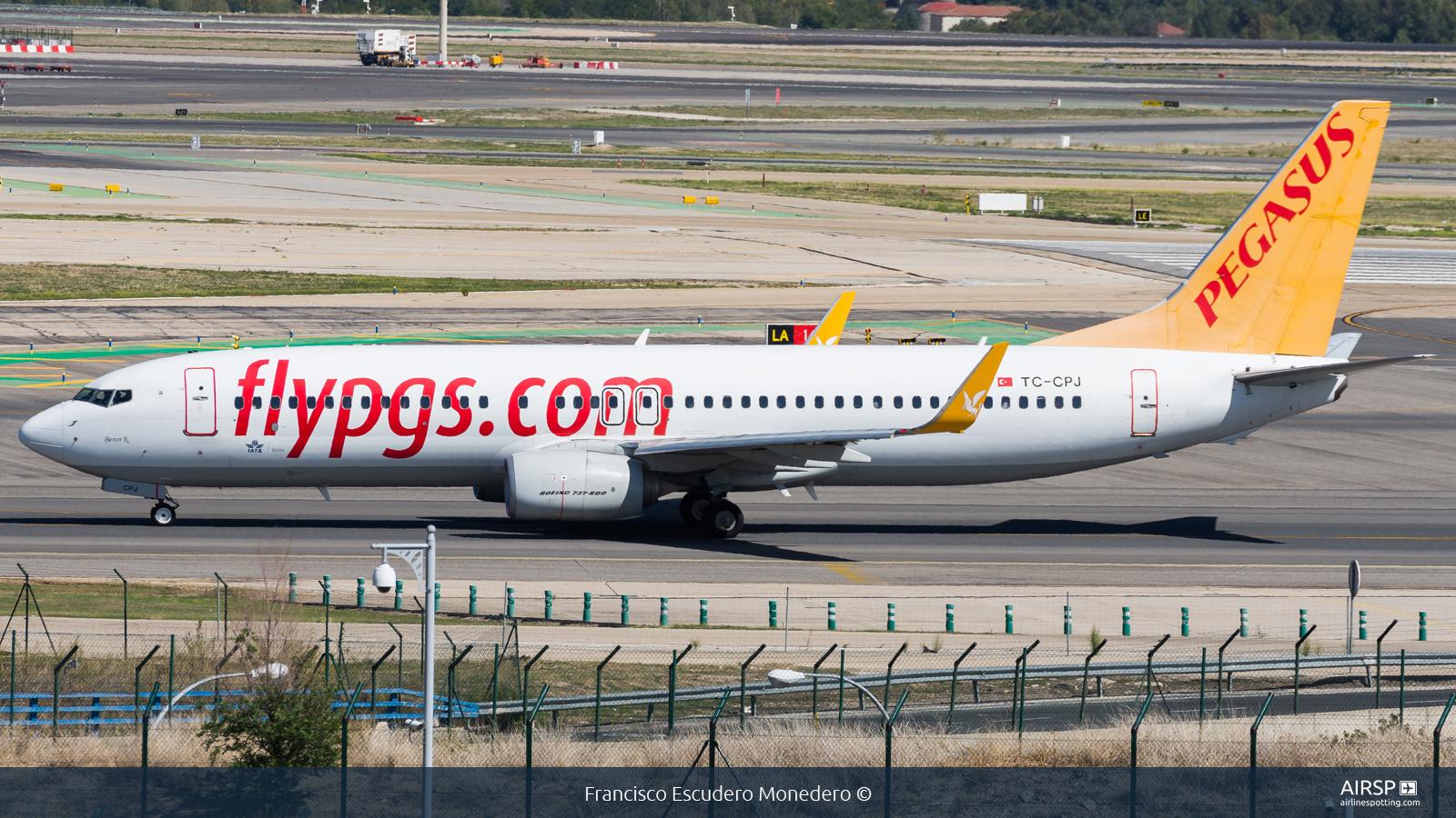 Pegasus Airlines  Boeing 737-800  TC-CPJ