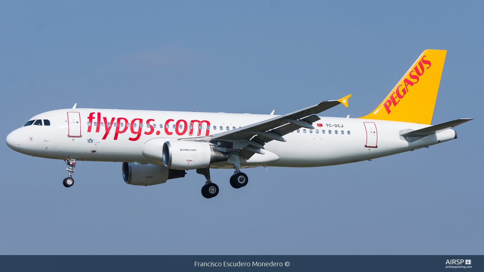 Pegasus Airlines  Airbus A320  TC-DCJ