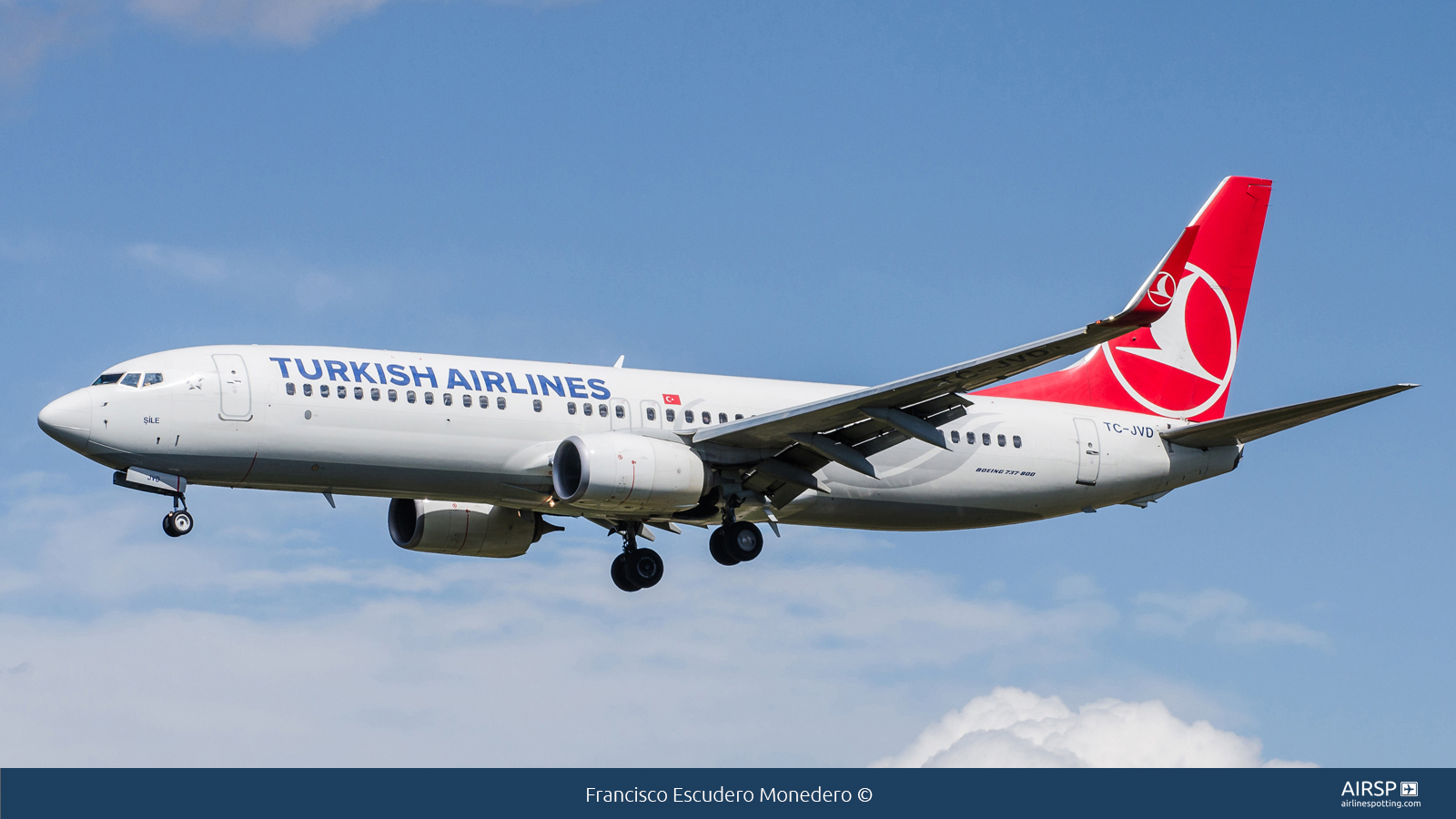 Turkish Airlines  Boeing 737-800  TC-JVD