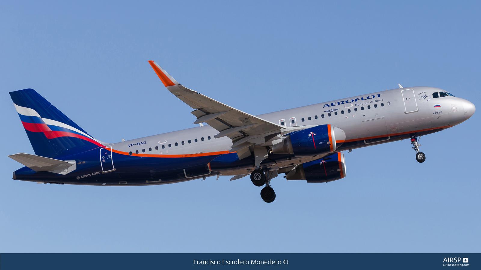Aeroflot  Airbus A320  VP-BAD