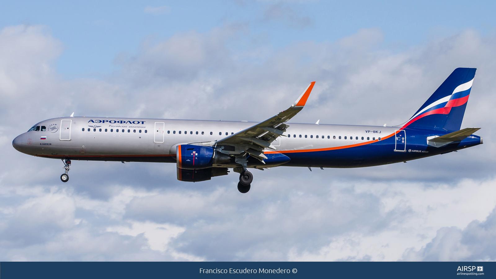 Aeroflot  Airbus A321  VP-BKJ