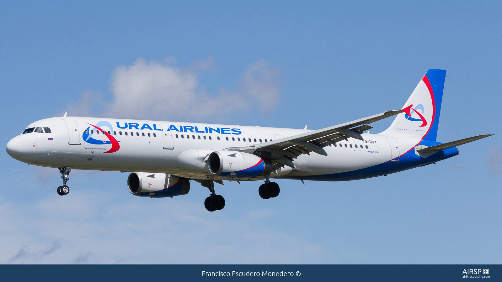 Ural Airlines  Airbus A321  VQ-BGY