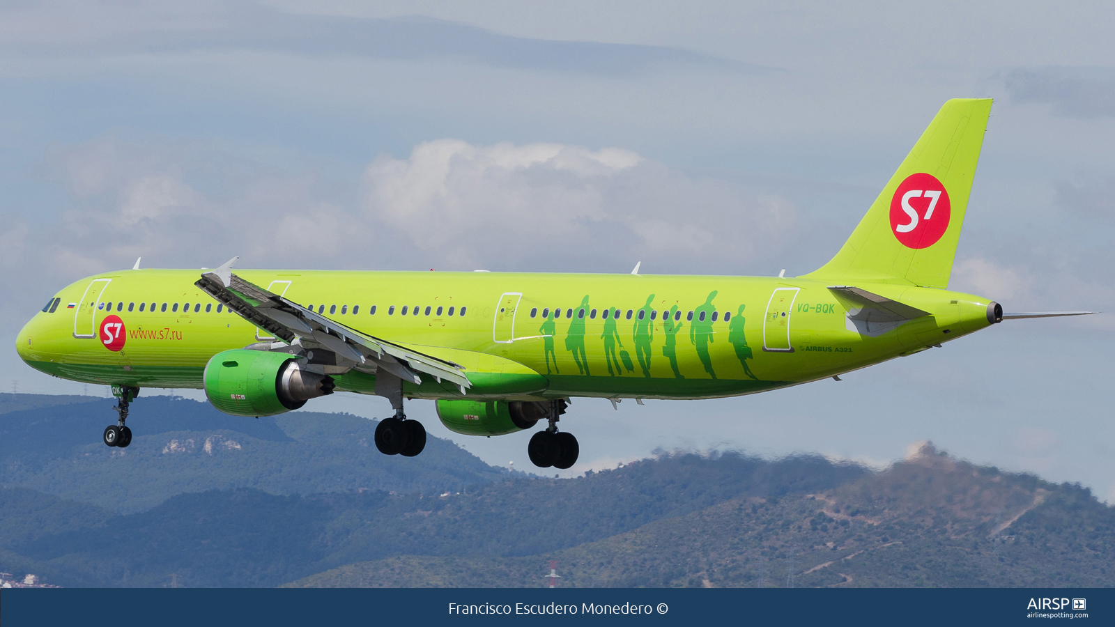 S7 Airlines  Airbus A321  VQ-BQK